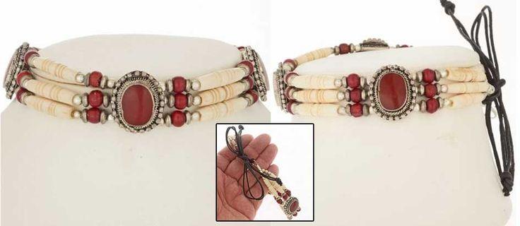 Apache Style Bone Chokcer Collection
