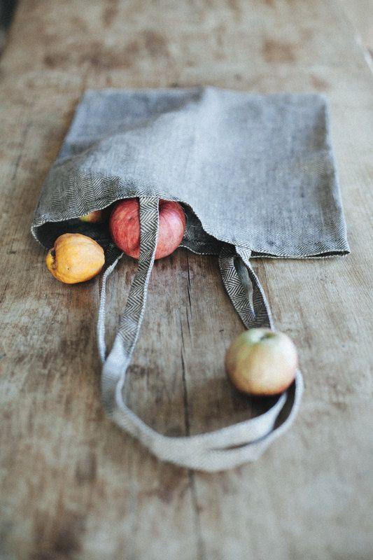 Linen Tote Bag /LINOHAZE etsy.com