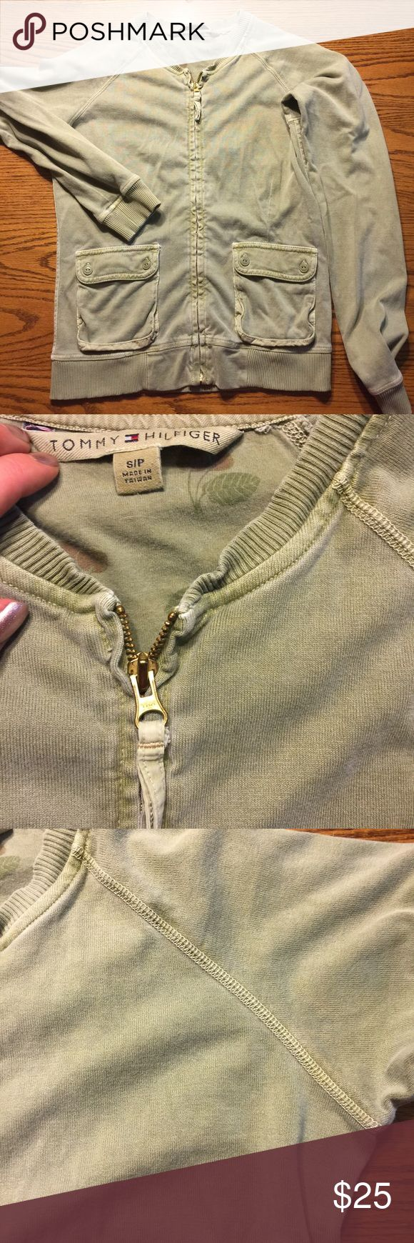 NWOT! Zip up sweatshirt jacket. This is warm! Never been worn. Great quality. Women's size small petite. Tommy Hilfiger Jackets & Coats