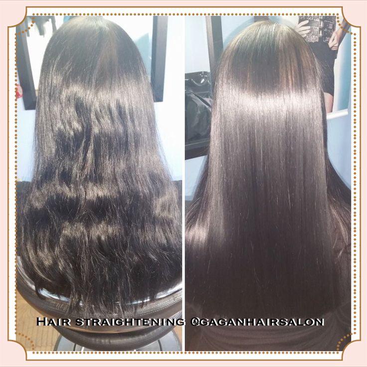 Japanese permanent hair straightening @gaganhairsalon