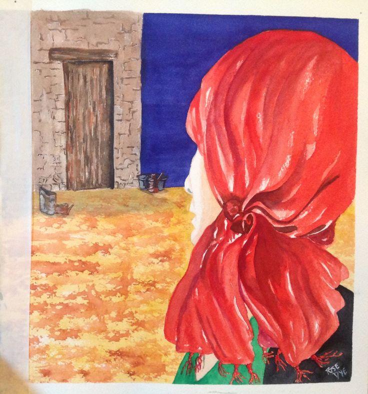 """Leaving "" Watercolour"