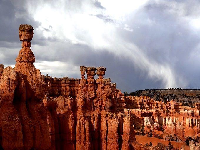 米国ユタ州のブライスキャニオン国立公園にて。Bryce Canyon National Park in Utah, USA.