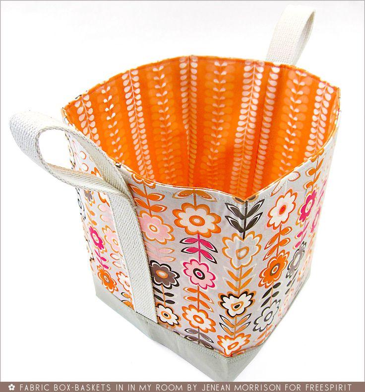 FreeSpirit-Rowan 10&10 Series: Fabric Box-Baskets in Jenean Morrison/In My Room   Sew4Home