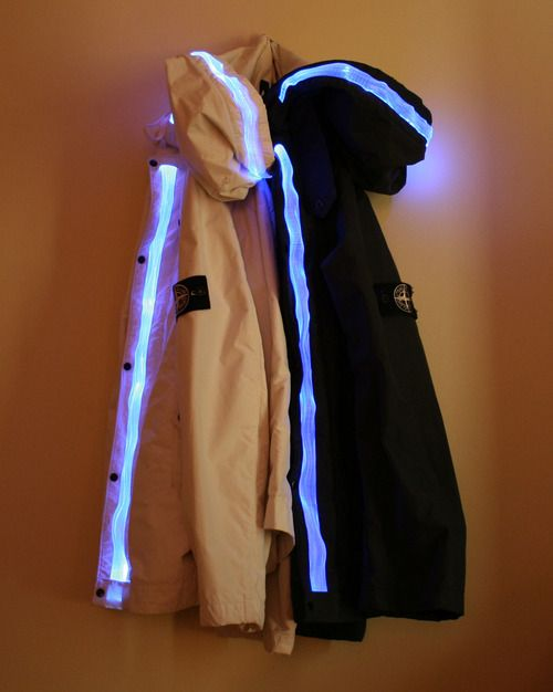 Jackets with Strip of Light for Nighttime Walks