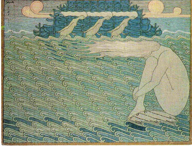 Maidens at the Ends of Capes, Aino-motif from the Kalevala 1919-20 (Joseph Alanen).
