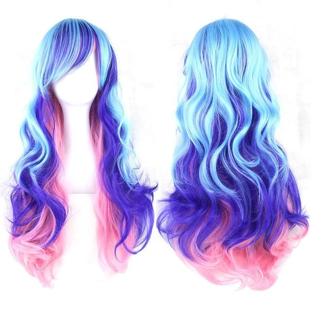 Unicorn Costume Fiber Wigs Synthetic Hair
