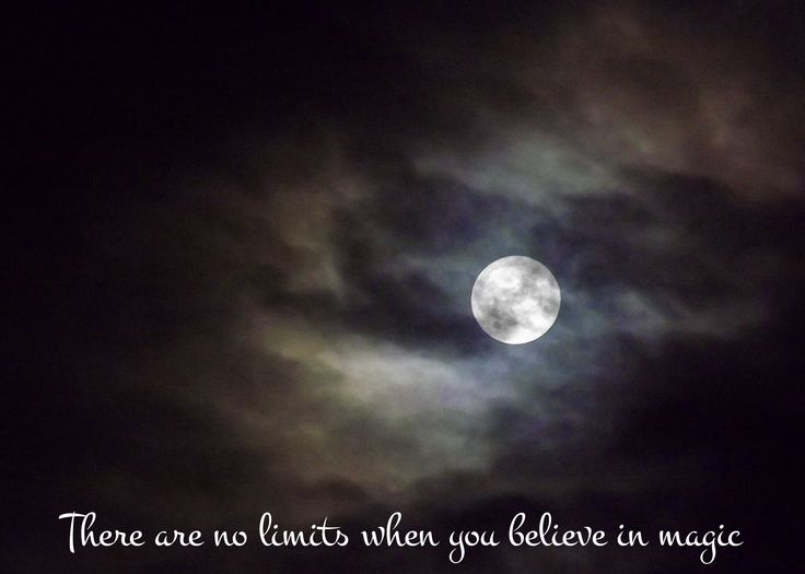 Magical Moon Quote for Halloween X - There are no limits when you believe in magic - Printable inspirational gift only £4.56 / $5.96