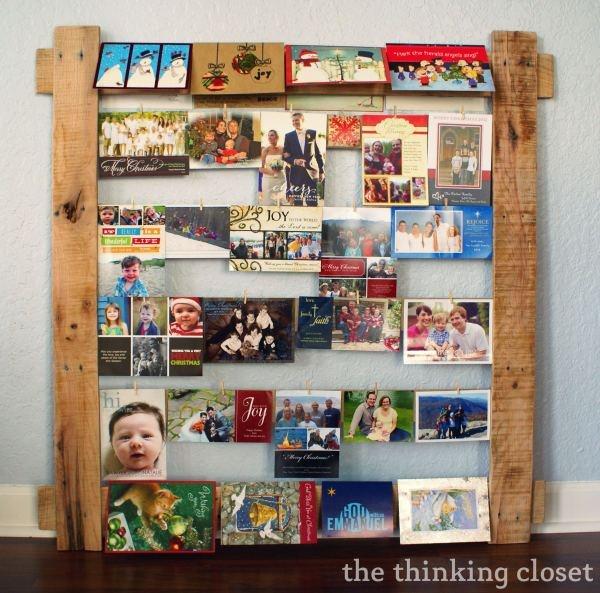 cut way to display Christmas cards