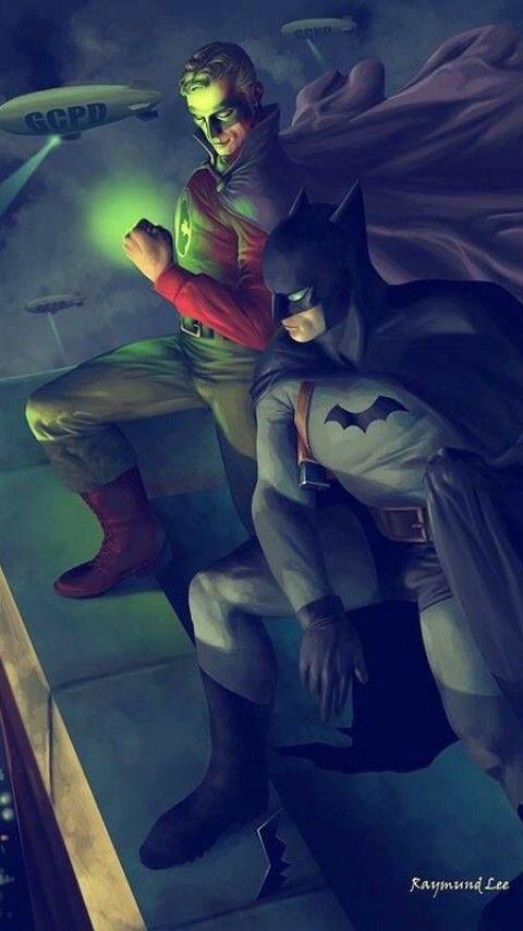 Golden Age Green Lantern and The Batman