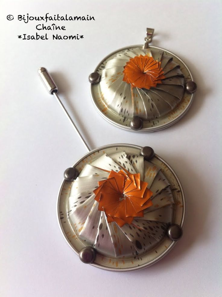 DIY Nespresso:Comment-faire un pendentif ou broche tourbillon fleur