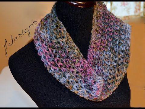 Loom Knit Infinity Scarf On Round Loom Mock Crochet Stitch