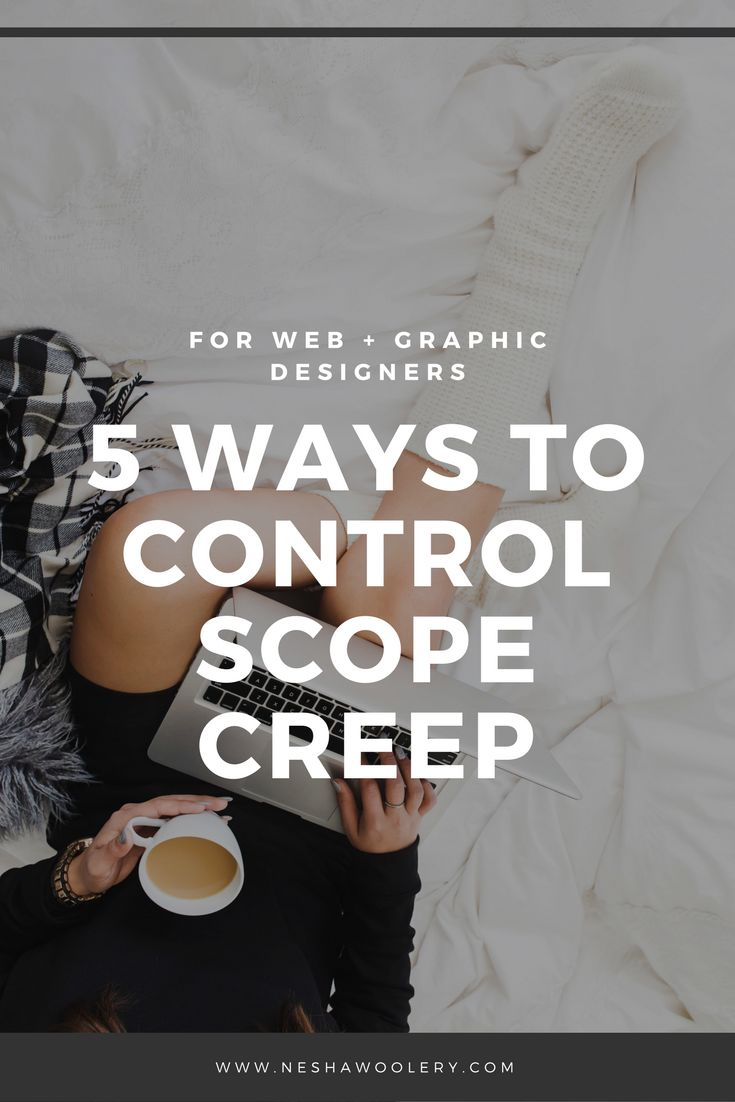Graphic designers: 5 Ways To Control Scope Creep http://neshawoolery.com/blog/control-scope-creep?utm_content=buffer3e7f8&utm_medium=social&utm_source=pinterest.com&utm_campaign=buffer #design