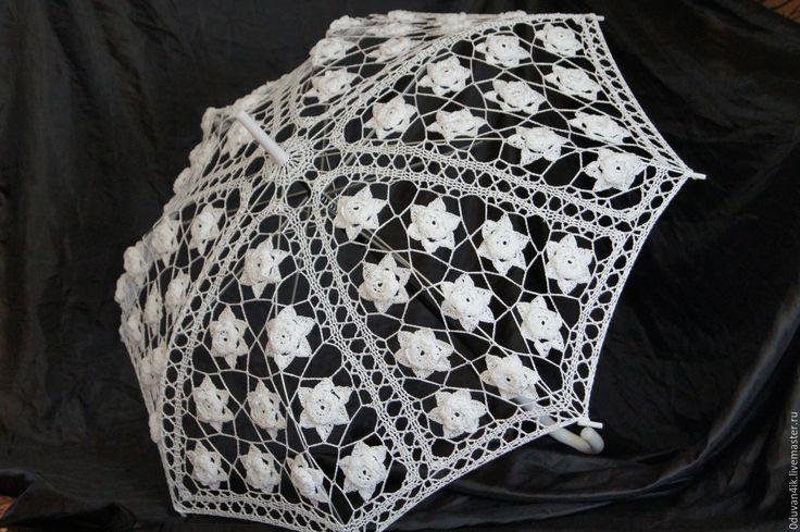 Купить Зонт №30 - белый, свадьба, свадебные аксессуары, аксессуары, Аксессуары handmade, аксессуары для фотосессий