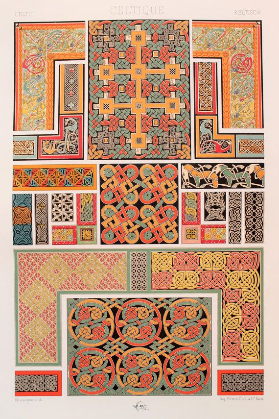 Celtic Decorative Ornament Manuscripts with by PaperPopinjay
