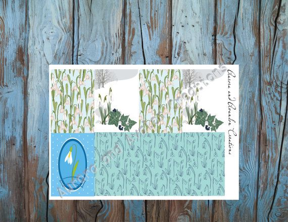 Snow drops-Weekly planner kit