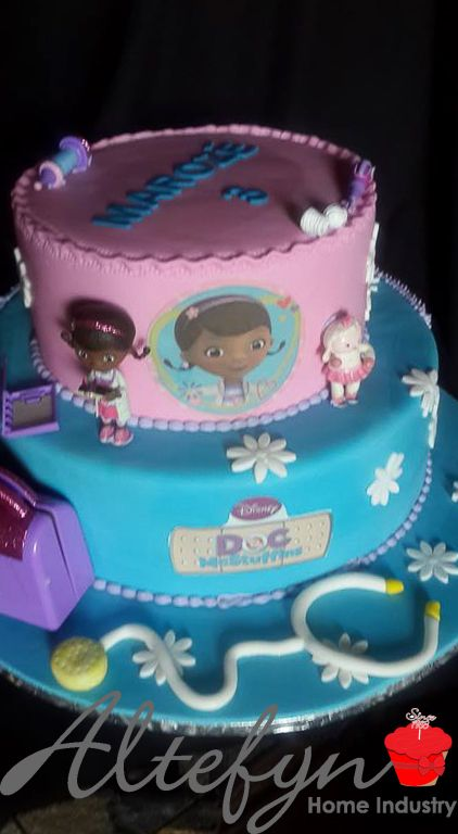 2 tier kiddies 3rd birthday cake