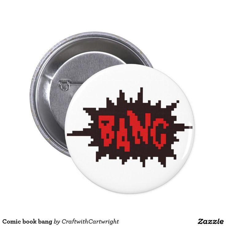 Pixel art Comic book bang badge