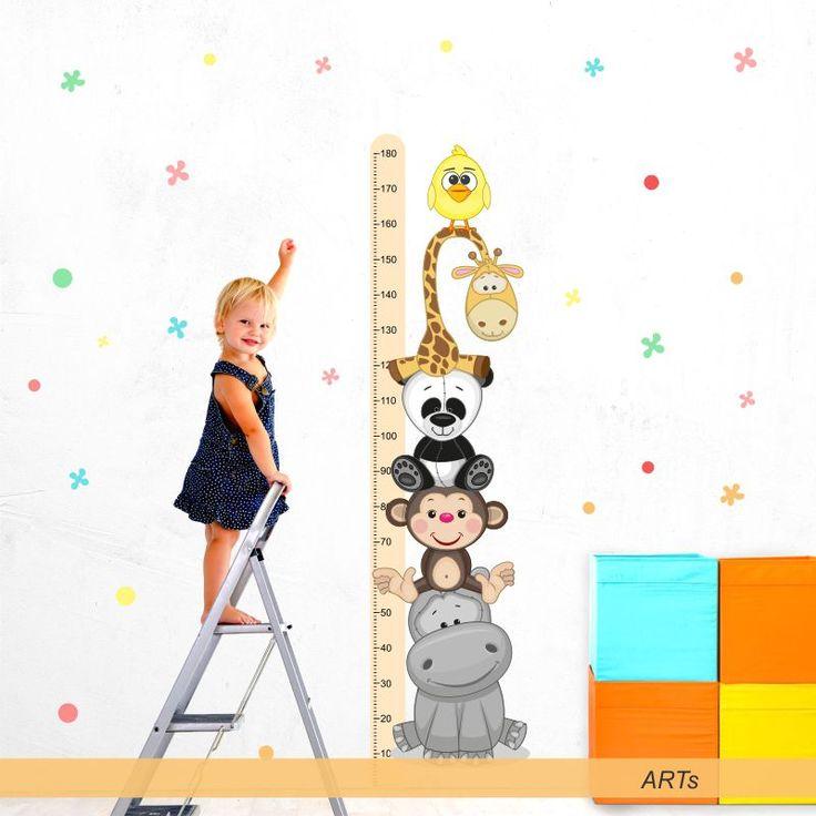 (3599f) #Nálepka na stenu - #Meter so zvieratkami III #artsablony