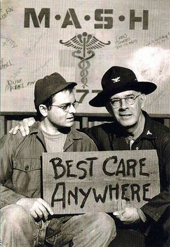 Harry Morgan and Gary Burghoff, M*A*S*H