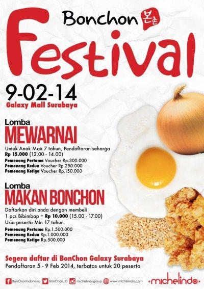 """AYO MERAMAIKAN ACARA """"Bonchon Festival"""" presented by @BonChon_ID DAFTARKAN PUTRA-PUTRI ANDA SEKARANG !!"""