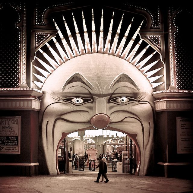 A perfect entrance to a circus - Luna Park in Melbourne