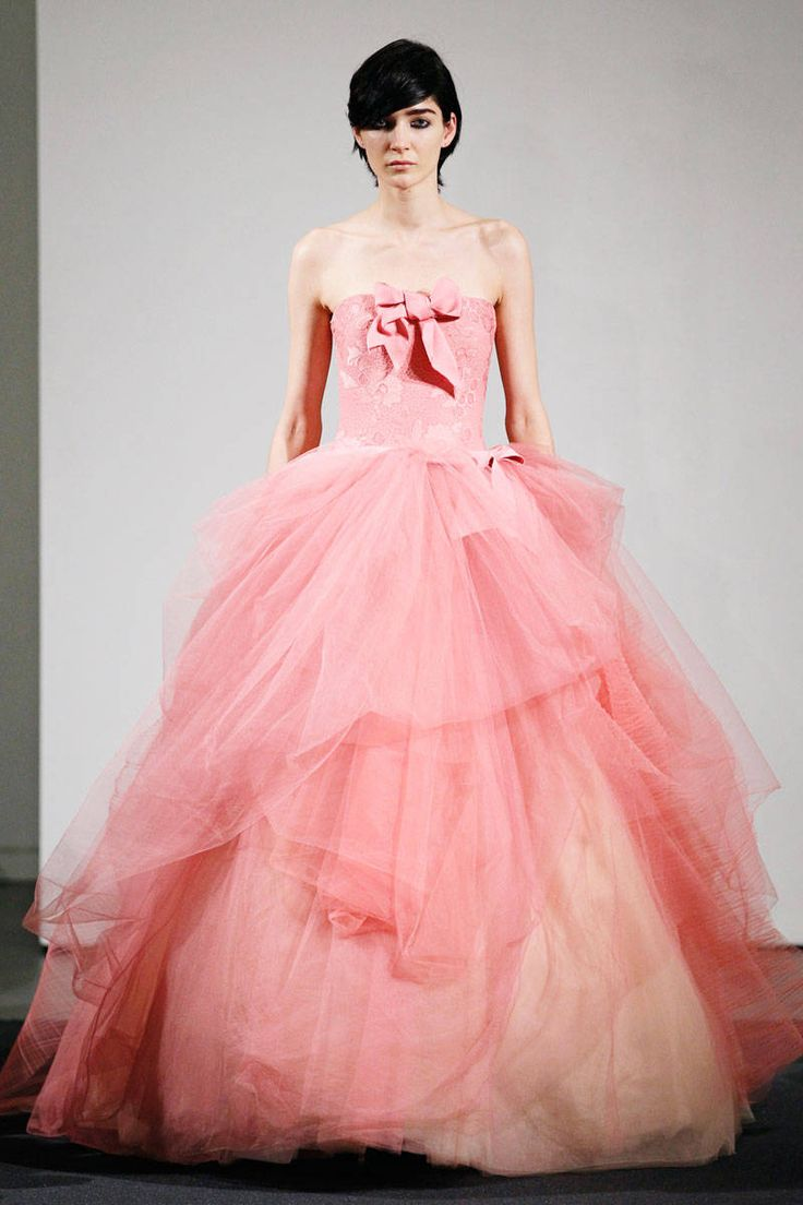 147 best vera wang bridal images on pinterest wedding frocks best bridal looks from fall 2014 vera wang pink tulle wedding dress become a ombrellifo Choice Image