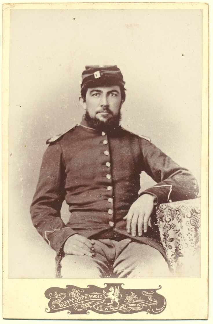 Civil War soldier York Pennsylvania cabinet card copy from much ...
