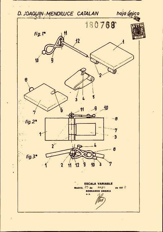 Cierre para pulseras perfeccionado (16 de enero de 1974) - cierre para pulseras perfeccionado que incluyendo la actuación de una lengüeta angulada relacio.
