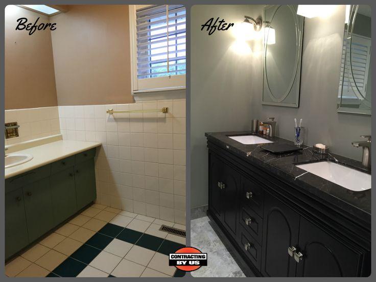 www.contractingby... #beforeandafter #modern #tile #homerenovation #homeimprovement #homeremodelling #reno #bathroom #Toronto #bathroomtransformation #generalcontractor #bathroomapproved #bathroomgoals