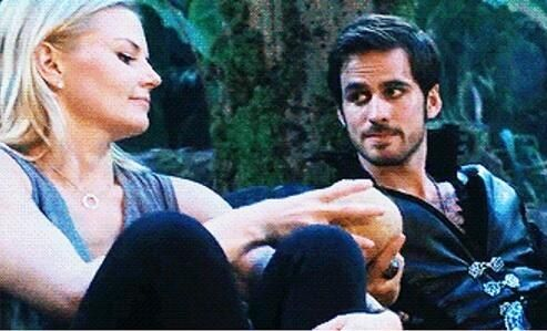Look...at how he is looking at her. Hook, your feelings are showing.