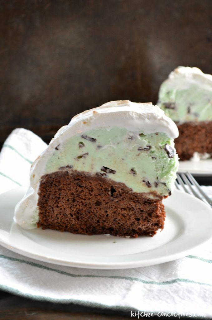 Mint Chocolate Chip Baked Alaska