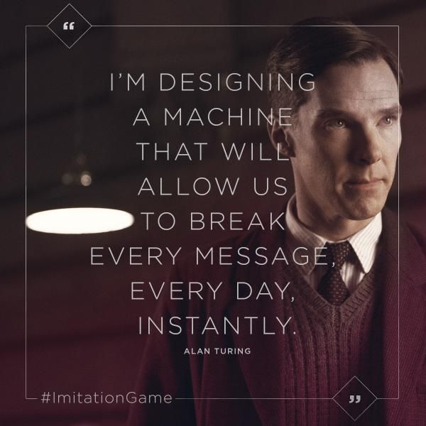 #BenedictCumberbatch is pioneer codebreaker Alan Turing in The #ImitationGame
