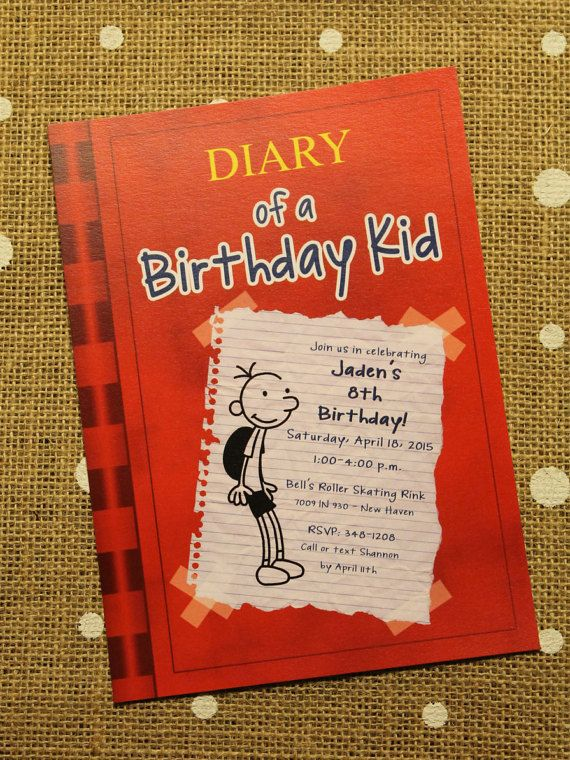 70 Best Diary Of A Wimpy Kid Party Images On Pinterest Kid Diary