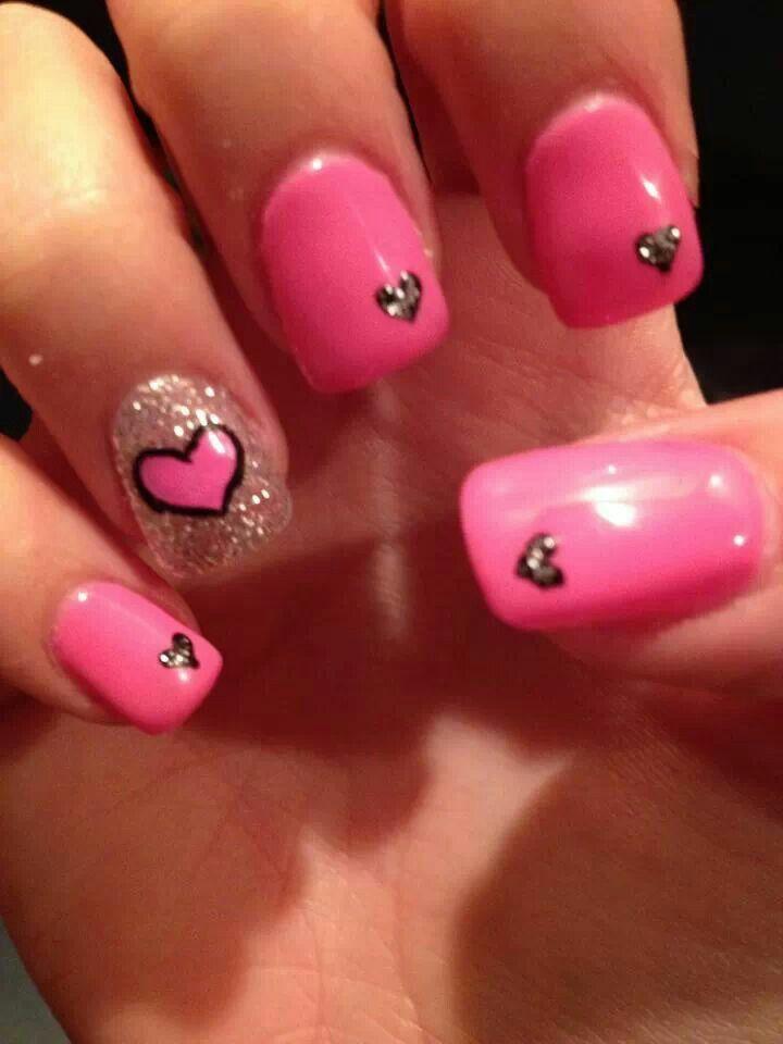 Valentine's Day nails by Kayla