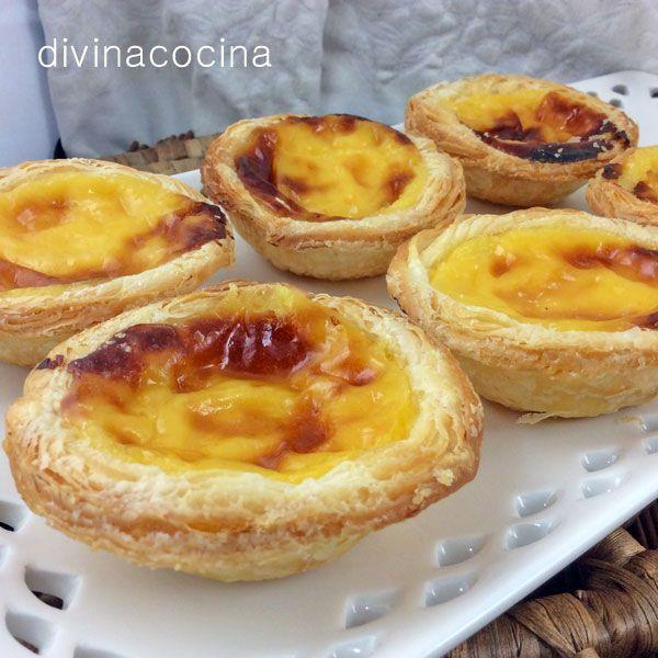 Estos pasteles de nata o pasteles de Belem son típicos de Lisboa y todo Portugal, y la receta original permanece en secreto desde el siglo XIX. Se pueden consumir templados o fríos. Cuando se van enfriando bajan un poco, es normal.