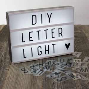 A4 Diy Letter Lightbox Lamp, Free Delivery - children's room