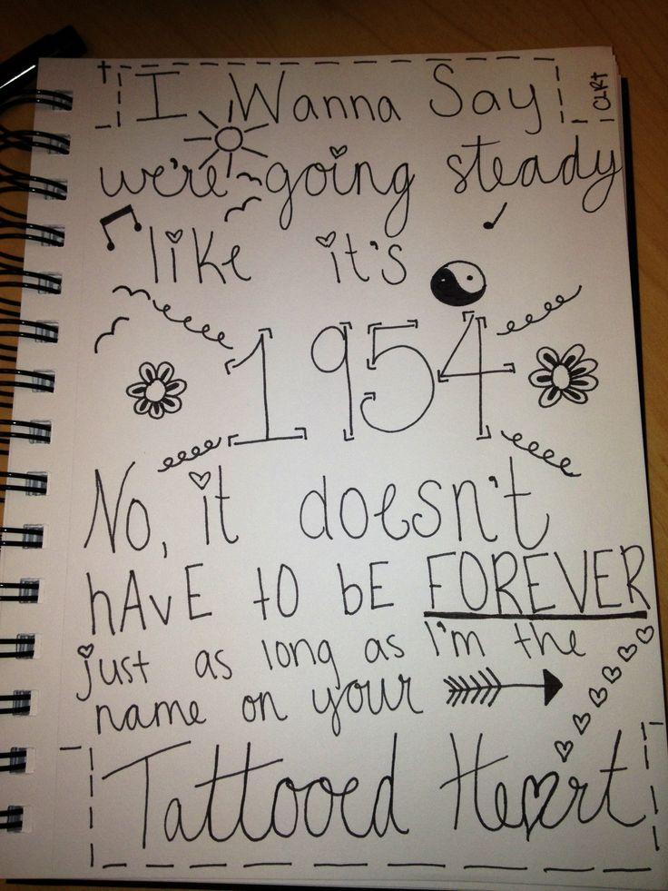 Ariana Grande Tattooed heart lyrics: made by @Courtney Baker Baker Baker Ranes or Courtney Ranes