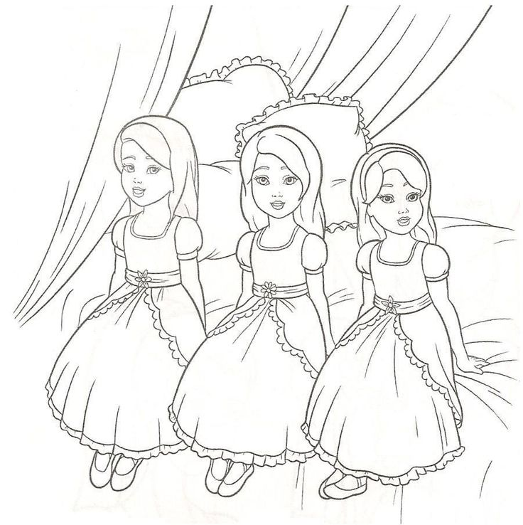 Coloring Pages Of Barbie And The 12 Dancing Princesses : Barbie dancing princesses coloring pages free