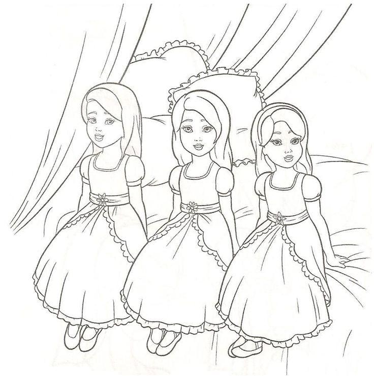 barbie 12 dancing princesses coloring pages free
