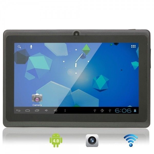 "7"" Capacitive Touch Screen Android 4.0 4GB Tablet PC with Camera Wifi TF Black"