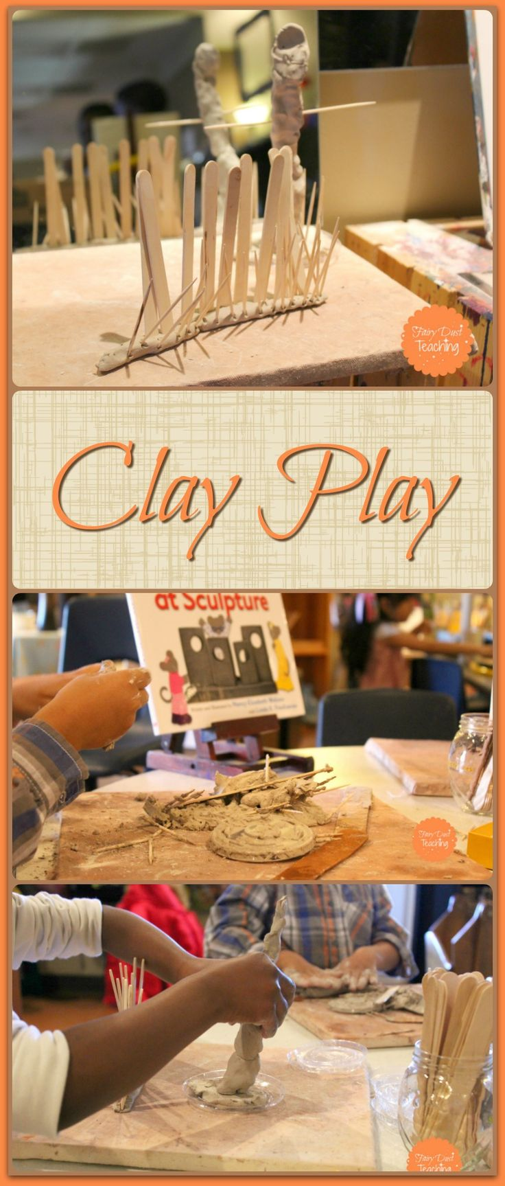 Clay is an incredibly powerful medium. It promotes concentration, fine motor skills, as well as creativity. Like Fairy Dust Teaching on Facebook for more Reggio-Inspired activity ideas!