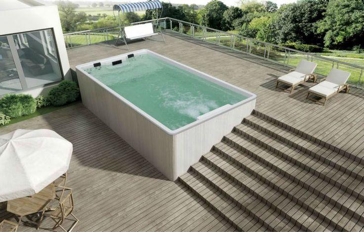 6 Meter hot tub above ground pool / swim spa