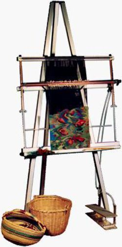 Oh what I could weave on this baby!  Weaving equipment Mirrix 5.5 ft Floor Stand (shown with loom)
