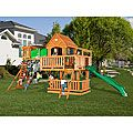 Backyard Discovery Woodridge All Cedar Swing Set, I think he could actually do this one.