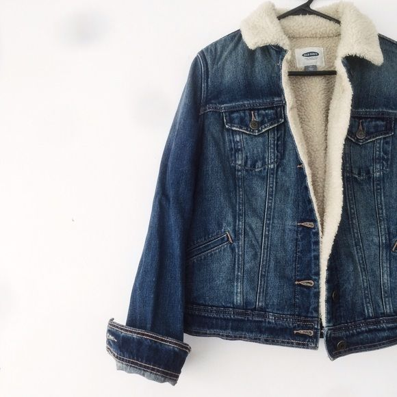 Sherpa Denim Jacket NWT. Warm, fleece-lined denim jacket. Armpit to Armpit: about 20in //Shoulder hem to End of sleeve: about 25in //Shoulder hem to Bottom: about 20in. Tag size Medium, best fits Small to Medium. Shell: 100% Cotton//Body Lining: 75% Polyester, 25% Acrylic. Wash cold, dry w/like colors, tumblr dry low. Brand is not American Apparel, listed for exposure. Brand is Old Navy NO TRADE. NEGOTIATIONS ONLY THROUGH THE OFFER BUTTON. Comments asking to trade or negotiation through…
