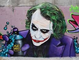 The painted joker- street art.