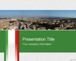 37 best travel powerpoint templates images on pinterest plants free italian powerpoint template with green and red colors and nice panorama view toneelgroepblik Images