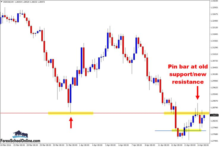 Image result for forex - four hour charts confirming pin bars