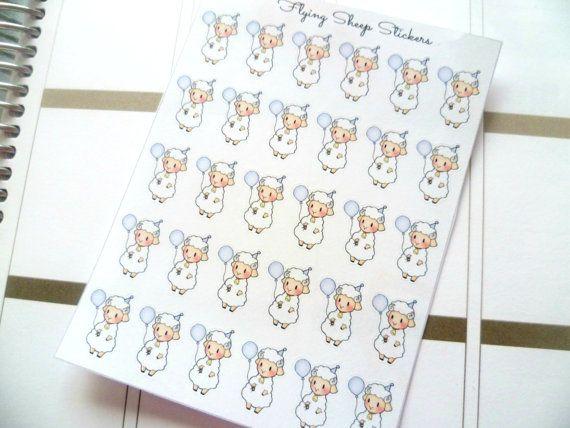 Birthday Sheep Emoji/Character Planner Stickers - SHEEPIE