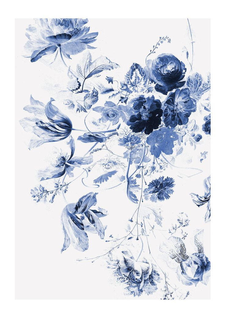 Royal Blue Flowers III